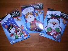 "DESIGN WORKS Felt 18"" Christmas Stocking Kits 3 Patterns! NEW IN PACKAGE!"