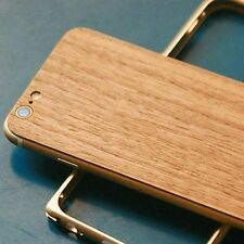 Natural Wood/Bamboo/Leather + Metal Bumper Frame Case Cover For iPhone 6 /6 Plus