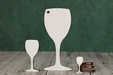 Wooden Wine glass shapes, craft blank,cutouts, Plaque making,Tag, pyrography