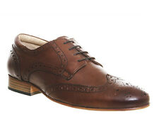 Mens Ask the Missus Banter Brogues TAN LEATHER Formal Shoes