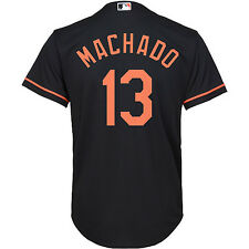 Youth Majestic Many Machado Black Baltimore Orioles Official Cool Base Jersey