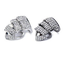 Punk Diamante Crystal Knuckle Emo Amor Joint Hinged Double Long Full Finger Ring