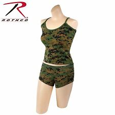 Sexy Booty Boy Shorts Tank Top Marines Woodland Digital Booty Camp Camo Womens