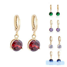 Lady Gift 18k Yellow Gold Plated Dangle Earring Drop Fashion Jewelry