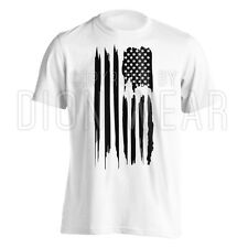 American Flag T-Shirt Patriotic USA Flag Vintage Men's Tee