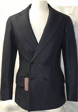 MISSONI Double Breasted Wool Silk S 48 M L 50 Men Peacoat Suit Blazer Gift ITALY