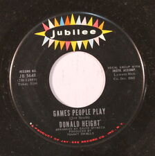 DONALD HEIGHT: Games People Play / Looking For My Baby 45 Soul