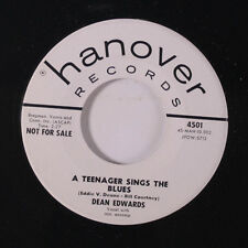 DEAN EDWARDS: A Teenager Sings The Blues / You're Driving Me Crazy 45 (dj) Oldi