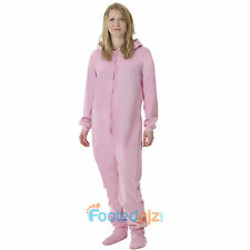 Pink Fleece Adult All In One Footed Pyjamas Ladies/Mens/Unisex Jumpsuit Romper