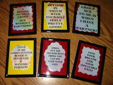 ADULT COMIC MAGNETS WALL PLAQUES SPARKLING CREATIONS