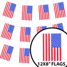 HUGE 100FT USA BUNTING LARGE AMERICAN FLAG DECORATION 30 METRES 4TH JULY EVENT