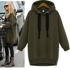 FASHION WOMENS HOODIES JUMPER PULLOVER SWEATSHIRT JACKET HOODED COAT CASUAL TOPS