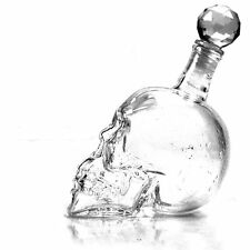 Creative Crystal Skull Head Beer Vodka Whiskey Bottle Wine Decanter 500ML 1000ML