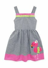 RARE EDITIONS® Girl's 5-6X Flamingo Check Seersucker Dress *NWT*