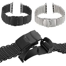 Fashion Stainles Steel Shark Bracelet Watch Mesh Band For Apple Watch 38mm 42mm