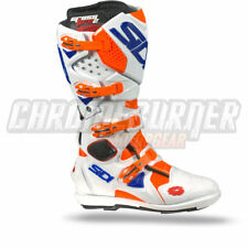 SIDI Crossfire 2 SRS Motorcycle Boots Orange Fluo White Blue, NEW!