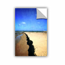 ArtWall Kevin Calkins ' Abstracted Beach ' Art Appeals Removable Wall Art