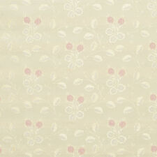 D145 Gold Pink And White Floral Brocade Upholstery Fabric