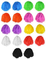 12 X PAIRS JUMBO USA POM POMS CHEERLEADER FANCY DRESS DANCE GROUP MULTIPACK BULK
