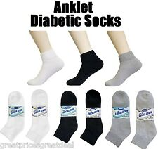 3 6 12 Pairs Mens Womens Circulation Diabetic Anklet Socks Lot Buruka 9-11 10-13