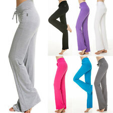 New Women Plus Size YOGA Running Elastic Athletic Sport Pants Fitness Trousers