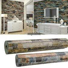 10M Roll  Stacked Brick/Stone Pattern Vinyl Wallpaper Wall Sticker 3D Realistic