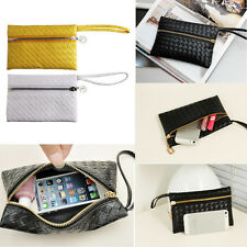 New Women PU Leather Clutch Bag Small Handbag Purse Cell Phone Pouch Mini Wallet