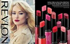 REVLON COLORSTAY ULTIMATE SUEDE LIPSTICK(food proof)U PICK COLOR- FREE SHIP