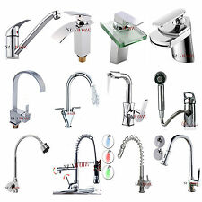 Modern Mixer Water Taps Square Waterfall Kitchen Bathroom Faucet Chrome plated