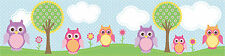 Brewster Home Fashions Kids World Owls In The Hood Light Owl Border Wallpaper