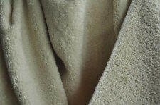 """Organic Cotton Woven Terry Cloth Fabric - 60"""" wide - Natural Color"""