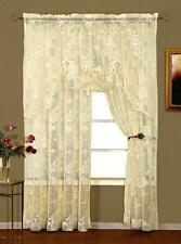 ABBEY ROSE LACE SWAGGER VALANCE - WHITE OR IVORY - SHABBY VICTORIAN ELEGANCE