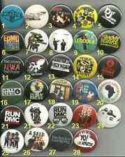 80's Eighties Hip Hop -  Rap Pins Buttons Badges PICK YOUR OWN LOT
