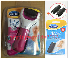 Scholl Velvet Smooth diamond Express Pedi Electric Foot File+2Replacement Roller