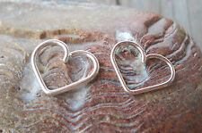 925 Sterling Silver Heart Daith piercing ring,cartilage,helix,tragus,ear hoop