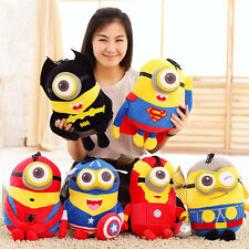 "8"" Marvel's The Avengers Hero Plush Stuffed Toys Minions 3D Eye Dolls Kids Gifts"