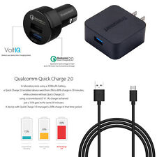 Tronsmart Qualcomm Quick Charge 2.0 Wall Charger&Car Charger +USB Cable