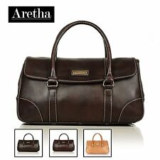 New Fashion Aretha Genuine Leather Women Totes handbags Ladies Shoulder bags Red