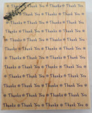 Thank You S1241 Hero Arts Word Prints Wood Mount Rubber Stamp