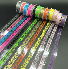 13 Rolls Lace Tape Transparent Self Adhesive Label Scrapbooking Sticker Paper OV