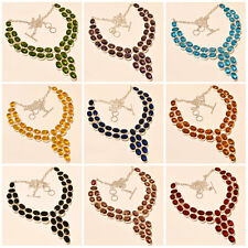 .925 SILVER  FULL MULTI GEMSTONE 9 PCS WHOLESALE LOT NECKLACE 18""