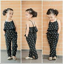 2PC Baby Girls Fashionable Lovely condole jumpsuits + belt Kids Clothes Outfits