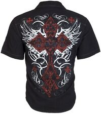 DESIGNER Mens BUTTON DOWN Shirt BRAVE Buckle BKE Express Roar UFC S-XXL $48
