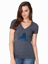 Buffalo SUNY Bulls Womens Short Sleeve Heather Grey V-Neck Shirt State Design