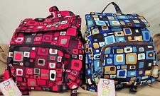 FREE SHIP-Donna Sharp flip top backpack –toffee and candy apple-NWT