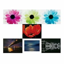 Canvas Print Floral, Bridges & Sea Wall Art Mounted Frame Different Designs -NEW