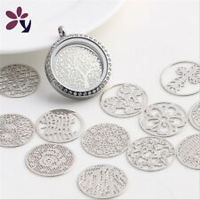 Choose Floating charm 22mm Silver discs Round for glass Living Memory Locket !