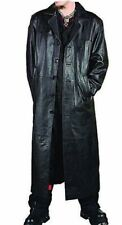 Gothic Van Helsing Genuine Cowhide Leather Goth Matrix Trench Coat for Men #573