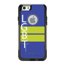 OtterBox Commuter for iPhone 5S SE 6 6S 7 Plus Blue & Yellow LGBT Flag