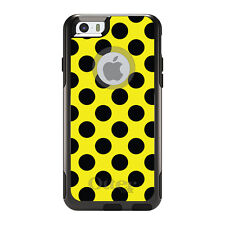 OtterBox Commuter for iPhone 5S SE 6 6S 7 Plus Black & Yellow Polka Dots